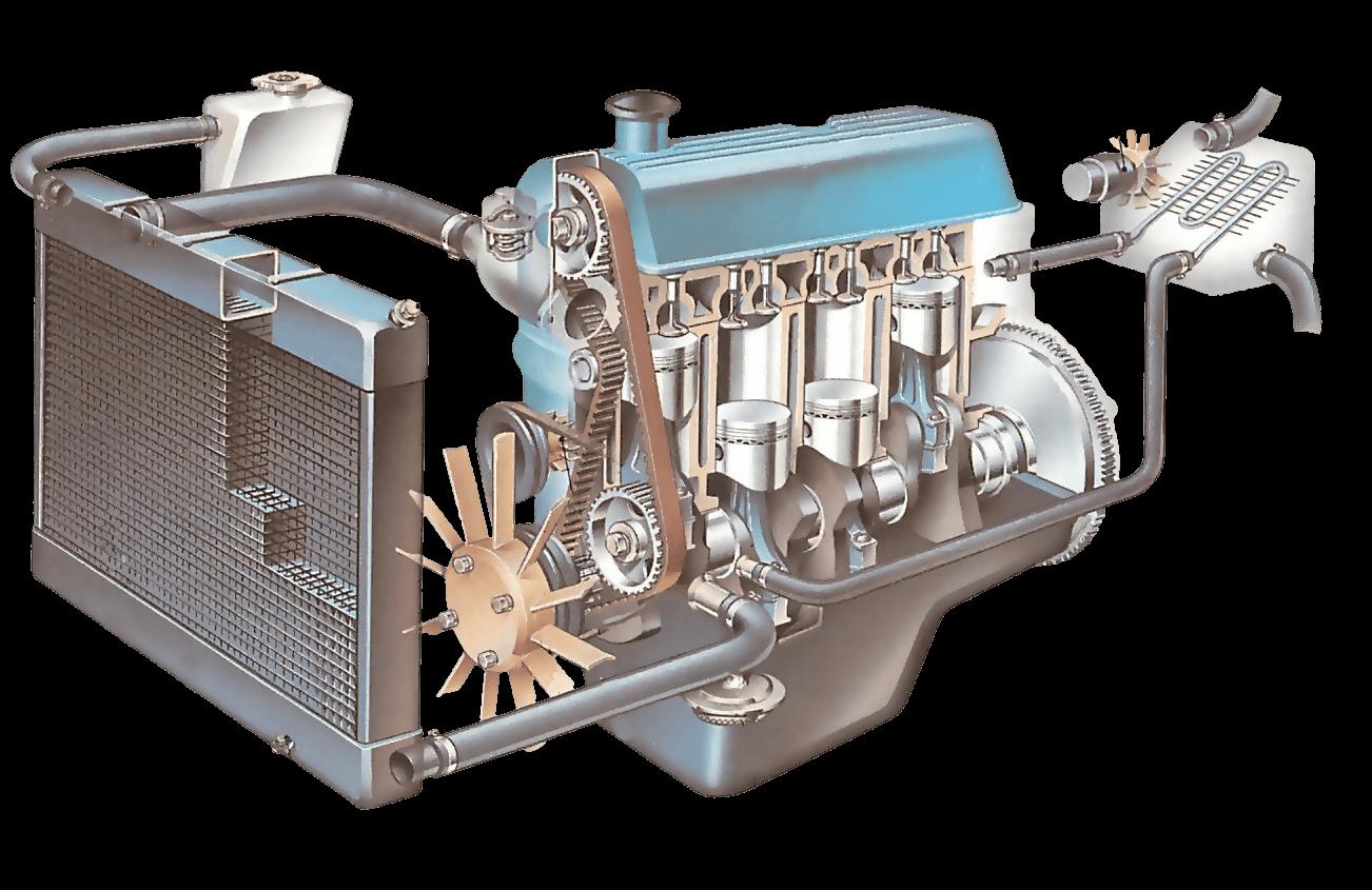 Forklift Engine Cooling System
