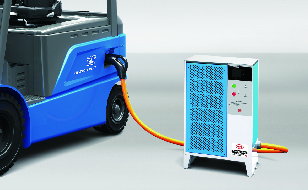 BYD Electric Forklift and Charger